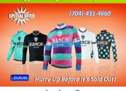 Special sale on bianchi milano men cycling jersey
