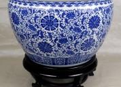 Oriental porcelain fishbowl