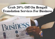Grab 20% off on bengali translation services
