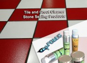 Stone tile floor and grout cleaning product