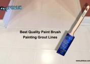 Paint brush for painting grout line   pfokus