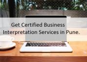 Get certified business interpretation services in