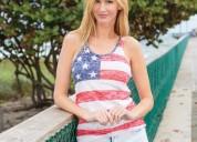Ladies american flag tank top - exist inc.