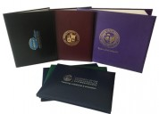 Buy premium quality leather diploma holder, padded