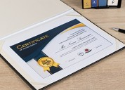 Buy leatherette certificate holder