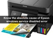 Fix epson windows service disabled error
