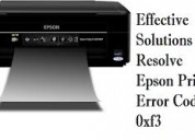 How to fix epson error code 0xf3?