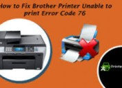 How to fix brother printer error code 76?