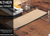 Leather menu covers supplier in usa