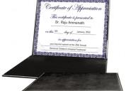 Buy diploma folder, leather certificate holder