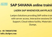 Best sap s4hana online training ,laelpro solutions