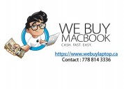 We buy macbook for cash!