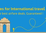 Get flight tickets deals between india and usa