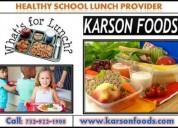 Specialized school lunch ideas for kids in nj