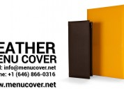 Why to invest in leather menu covers?