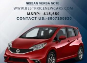 Nissan versa note price & specs | best new cars