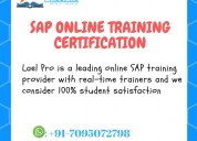 Sap online training certification