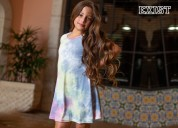 Girls short sleeve tie dye dress - exist inc