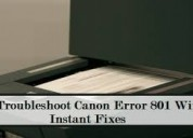 How to fix canon error code 801?