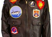 Top gun brown leather jacket