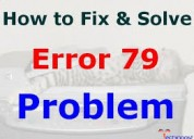 How to fix hp printer 79 service error?