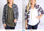 Women's plaid tops & shirts by southern boutiques