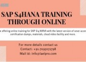 Sap s4hana  training through online