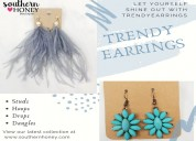Add standout style with trendy earrings from south