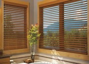 Blinds (faux and real wood)
