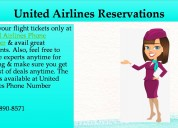 Book quick tickets, dial united airlines