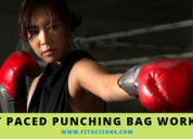 Workouts with a punching bag