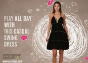 Ladies halter short dress - exist inc