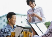 Restaurant menu covers suppliers
