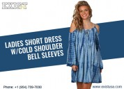Ladies cold shoulder dress - exist inc