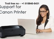 How i get the canon printer customer support