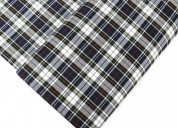School plaid fabric, 100% polyester