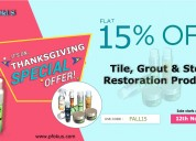 Offers on tile, grout & stone restoration products