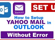 Set up  yahoo mail in outlook without error