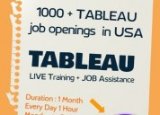 Tableau online training with job assistance
