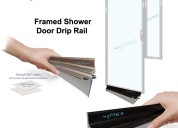 Framed shower door drip rail - shower door rails |