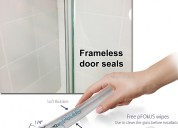 Glass shower door seal - frameless door seals | pf