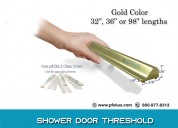 Shower door threshold - frameless threshold | pfok