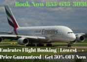 Emirates flight booking | get 30% off now