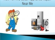 Finding local appliance repair services
