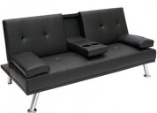 Best choice products modern faux leather futon sof