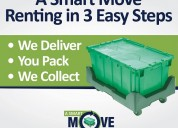 Moving boxes - rent to save time & money