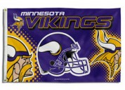 Nfl minnesota vikings 3 ft. x 5 ft. flag w/grommet