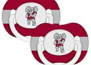 Ncaa alabama crimson tide 2-pack pacifiers
