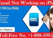 Cox email not working on iphone  | 1-888-599-2566