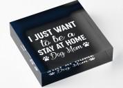 Home dog mom acrylic block